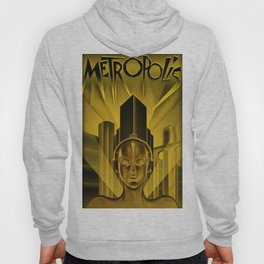 "Vintage 1927 ""Metropolis"" Movie Lithograph Advertisement Poster Hoody"