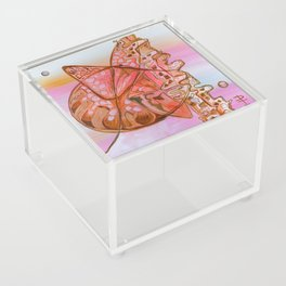 Something Jurassic In Pink & Brown Acrylic Box