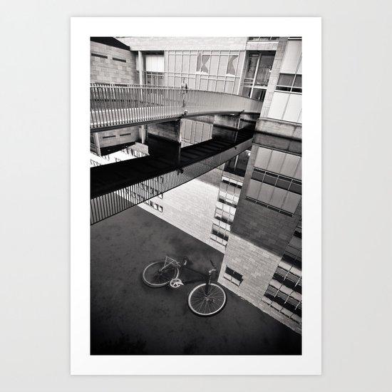 Bicycle under Glass Art Print