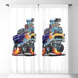 Classic Fifties Hot Rod Muscle Car Cartoon Blackout Curtain