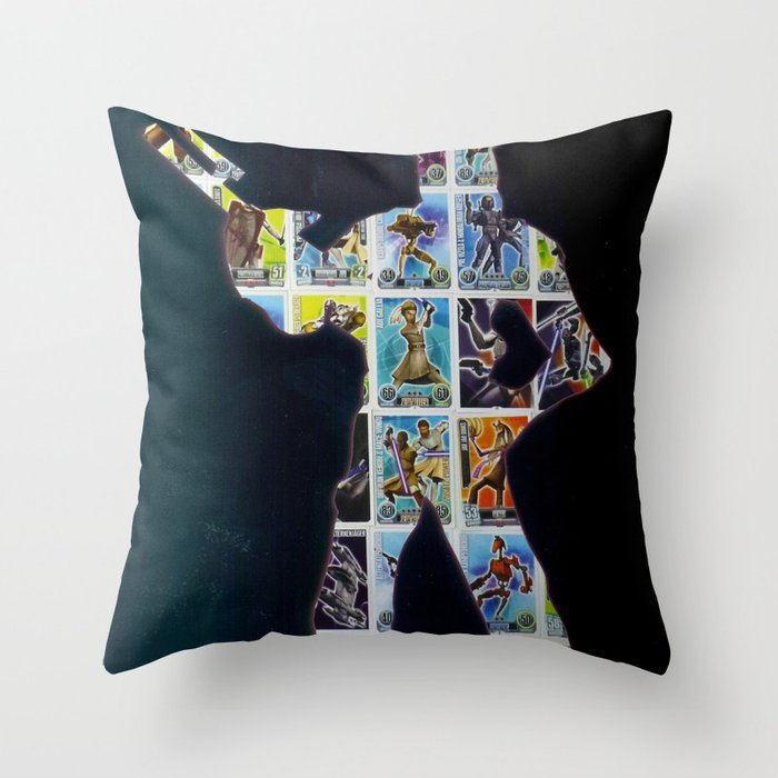 Cut StarWars Collage 10 Throw Pillow
