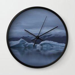 Icebergs at glaciar lagoon in Iceland Wall Clock