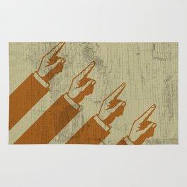 Hier sind die Hände, die nach Norden zeigen Rug