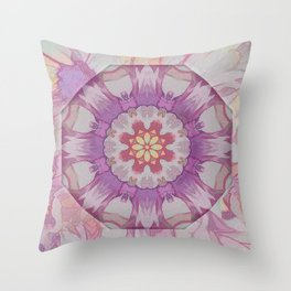 Soft Lavender Floral Kaleioscope Throw Pillow