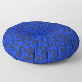 Animal print,leopard, cheetah print,blue background  Floor Pillow