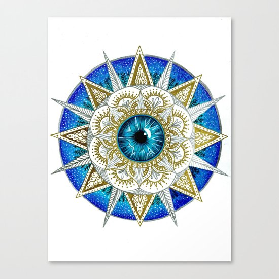 Eye Mandala Canvas Print