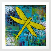 Fly, Dragonfly! Art Print