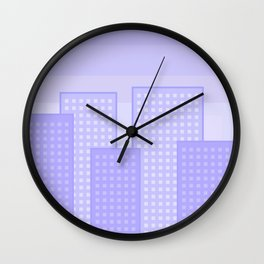pretty city blue Wall Clock