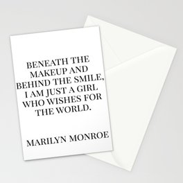 Marilyn Quote Stationery Cards