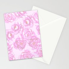 Watercolor Peonies in Pink Stationery Cards