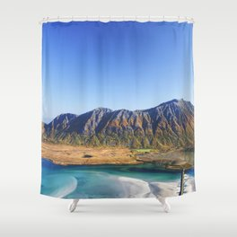 Hiking with a view Shower Curtain