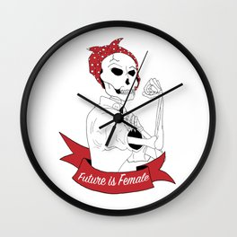Future Is Female Wall Clock