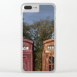 Telephone box / Phonebooth Clear iPhone Case