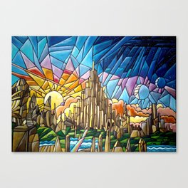Asgard stained glass style Canvas Print