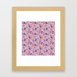 Pink Pebbles Framed Art Print
