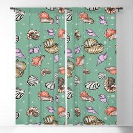 Seashells Pattern Blackout Curtain