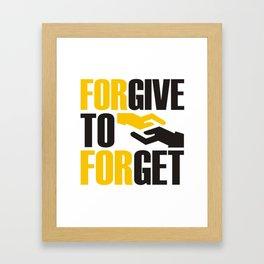 Forever To Forget Framed Art Print