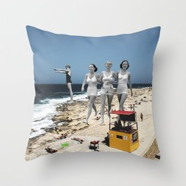Summer Walks Throw Pillow