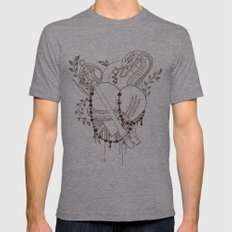 Find the key to my heart (chocolate) Tri-Grey Mens Fitted Tee MEDIUM