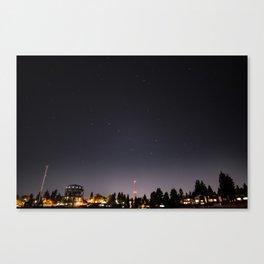 Stars Over Maple Leaf Canvas Print