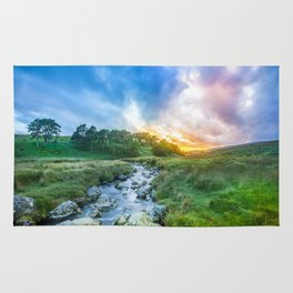 Sunset summer in Wicklow Mountains Rug