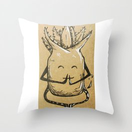 Namaste Aloe Throw Pillow