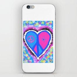 Peaceful heart iPhone Skin