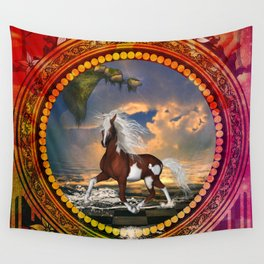 Wonderful horse on the beach Wall Tapestry