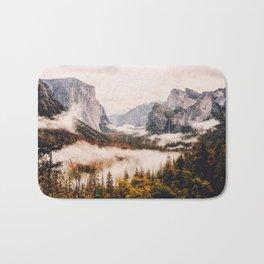 Amazing Yosemite California Forest Waterfall Canyon Bath Mat