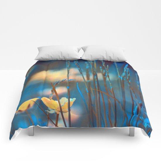 Blue dusk. Comforters