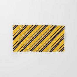 Potterverse Stripes - Hufflepuff Yellow Hand & Bath Towel