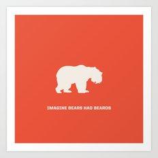 Bearded Bears Art Print