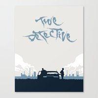 true detective Canvas Prints featuring True Detective by Carlos Asensi