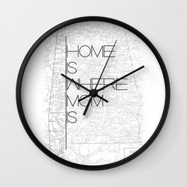 Mother's Day - Alabama Wall Clock