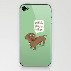 Immature Dachshund iPhone & iPod Skin