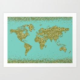 Glitter Globe Art Print