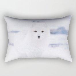 Artic Fox Eyes Rectangular Pillow