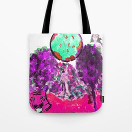 Poodle's Pink Planet Tote Bag