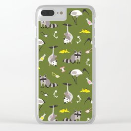 Trash pals from other locales Clear iPhone Case