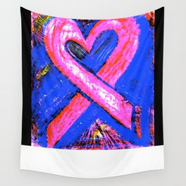 Super-Ribbon!! A Pink Ribbon for Breast Cancer Research by Jeffrey G. Rosenberg Wall Tapestry