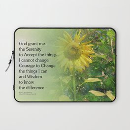 Serenity Prayer Sunflower Laptop Sleeve