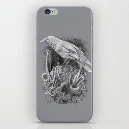 White Raven iPhone Skin