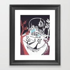 Round Tree House Framed Art Print