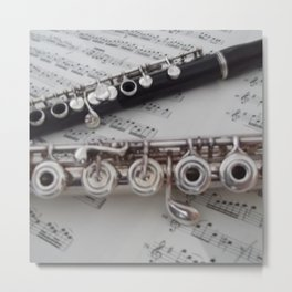 Antique Piccolo and Flute  Metal Print