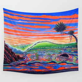 Surf Art Psychadelic  Wall Tapestry