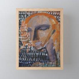 portrait of a girl Framed Mini Art Print