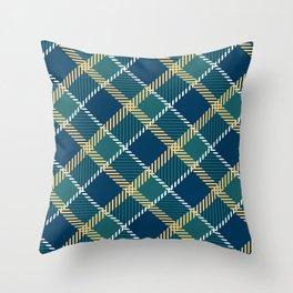 Saint Patrick's tartan cloak. Throw Pillow