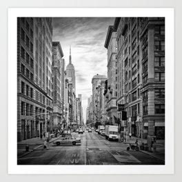 NEW YORK CITY 5th Avenue | Monochrome Art Print