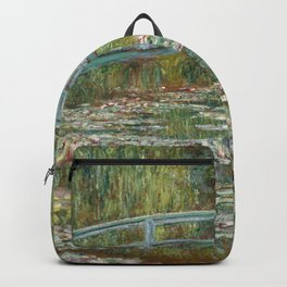 Monet, Water Lilies and Japanese Bridge, 1854 Backpack