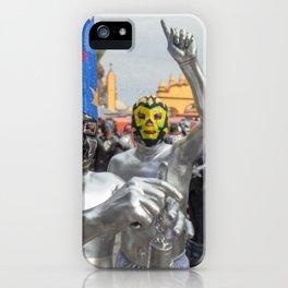 Silver Lucha Libre iPhone Case